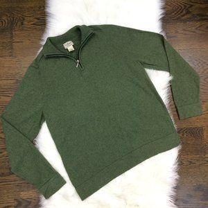LL Bean Sweater Reg. M 1/4 Zip Cotton Cashmere